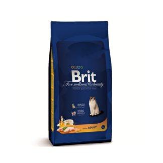 Brit Cat Premium Adult с пиле - пълноценна храна за възрастни котки 8 кг