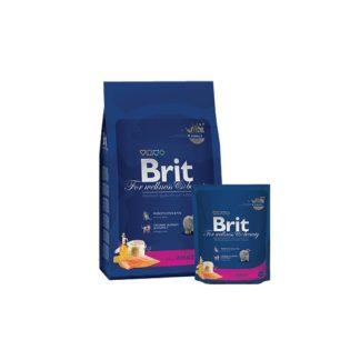 Brit Cat Premium Adult със сьомга - пълноценна храна за възрастни котки 1.5 кг