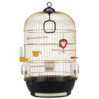 Клетка за птици FERPLAST CAGE DIVA BRASS, Ø40xH 65 см