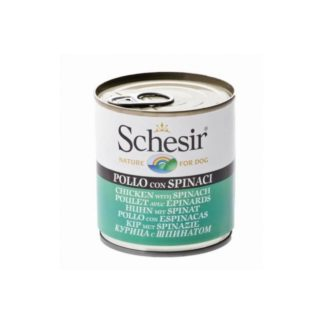 Schesir Пилешко със спанак 285 gr