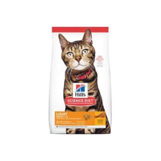 Суха храна HILL'S® SCIENCE DIET® ADULT LIGHT контрол на тегло на котки над 12 м, 10 kg