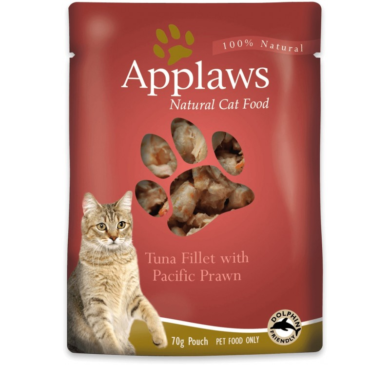 Applaws Tuna with Pacific Prawn in Broth - с риба тон и скариди 70 гр