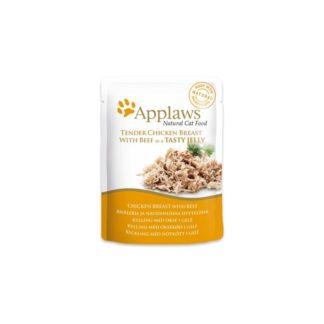 Applaws Chicken with Beef in Jelly - с пилешко и говеждо месо в желе 70 гр