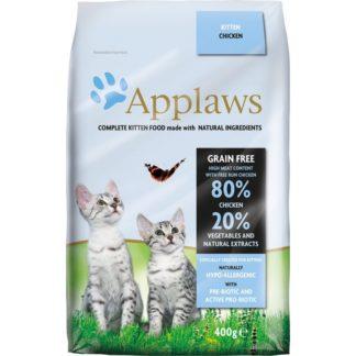 Applaws Chicken Kitten Cat - пълноценна храна с пилешко месо, за котки от1 до 12 месеца 400 гр.