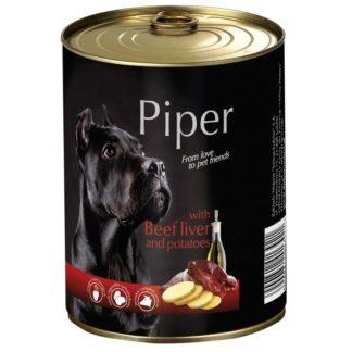Консерва PIPER ADULT BEEF LIVER AND POTATOES за кучета над 12 м. с черен дроб и картофи, 400 g