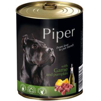 Консерва PIPER ADULT GAME AND PUMPKIN за кучета над 12 м. с дивеч и тиква, 400 g