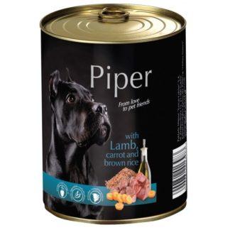 Консерва PIPER ADULT LAMB, CARROT AND BROWN RICE за кучета над 12 м. с агне, морков и ориз, 400 g