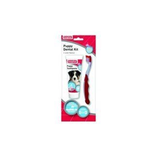 Комплект паста за зъби и четка BEAPHAR PUPPY DENTAL KIT