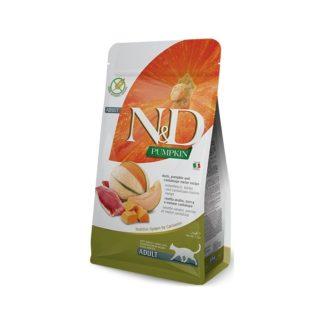Суха храна N&D PUMPKIN DUCK & CANTALOUPE за котки над 12 м, 300 g