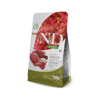 Суха храна N&D QUINOA URINARY DUCK за уринарния тракт с патица, 300 g