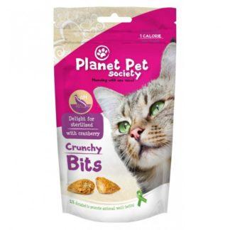 Planet Pet Society Crunchy Bits for sterilized - деликатесно лакомство за кастрирани котки