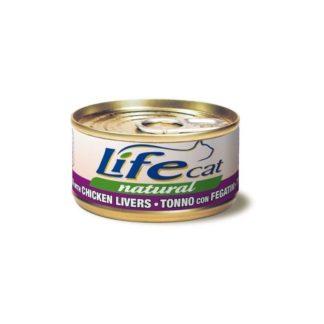 Life Natural Lifecat Tuna & Chicken liver - с риба тон и пилешки дробчета, 85 гр.