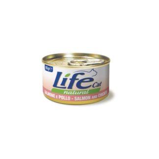 Life Natural Life Cat Salmon & Chicken - с пилешко месо и сьомга, 85 гр.