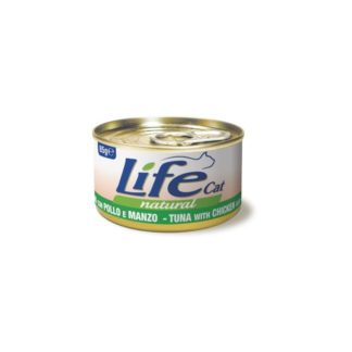 Life Natural Life Cat Tuna Chicken and Beef - с риба тон, пилешко и говеждо месо, 85 гр.