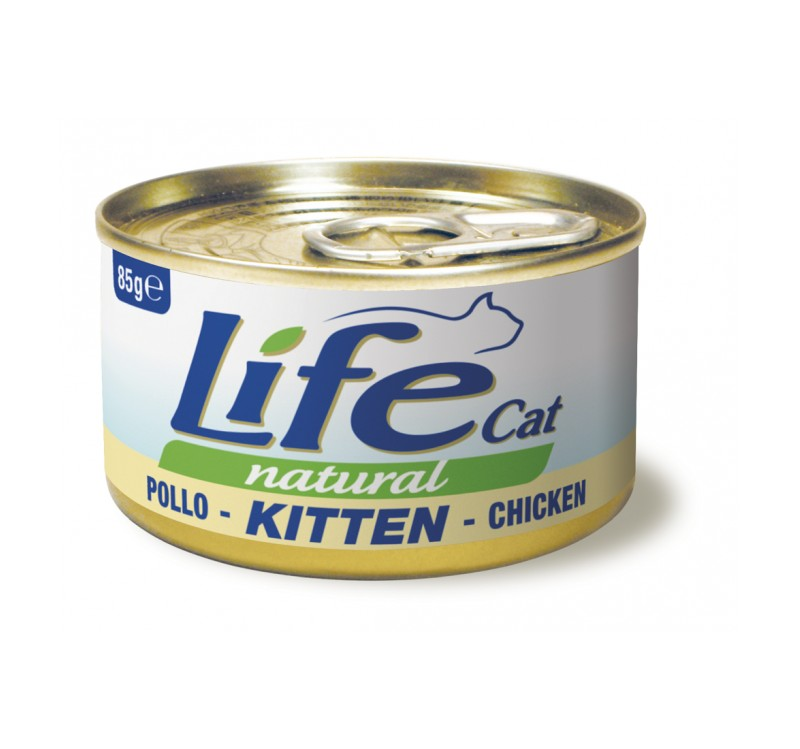 Life Natural Life Cat Kitten Chicken - с пилешко месо, за малки котенца, 85 гр.