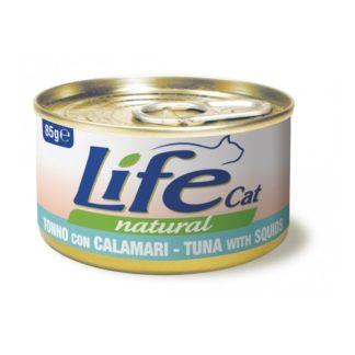 Life Natural Life Cat Tuna & Squid - с риба тон и калмари, 85 гр.