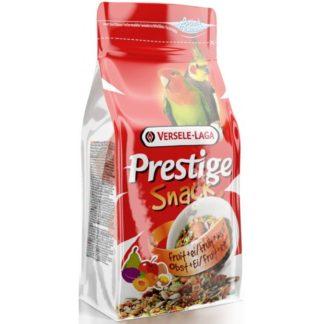 Допълваща храна за средни папагали VERSELE LAGA PRESTIGE SNACK PARAKEETS с плодове и яйца, 125 g