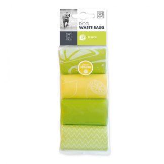 M-Pets Dog Waste Bags - хигиенни торбички с аромат на лимон, 4 х 15 бр.