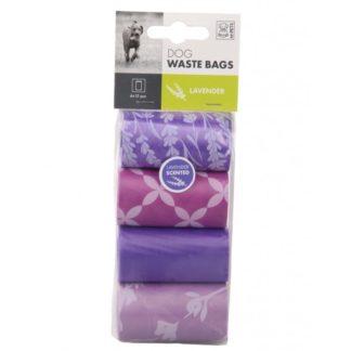 M-Pets Dog Waste Bags - хигиенни торбички с аромат на лавандула, 4 х 15 бр.