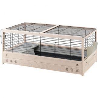 Оборудвана клетка за зайци и морски свинчета FERPLAST CAGE ARENA 120 BLACK, 125x64,5x51см