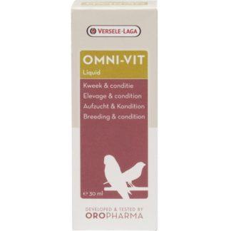Комплекс от витамини за птици, аминокиселини и микроелементи за добра кондиция VERSELE LAGA OMNI-VIT LIQUID, 30 ml