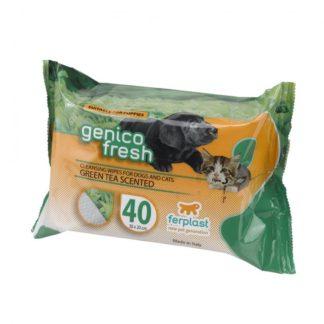 Мокри кърпички Ferplast GENICO FRESH dog/cat GREEN TEA (x 40)