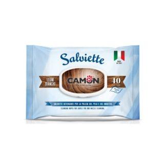 Мокри кърпички Camon Salviette аромат бяло дърво, 40 бр.