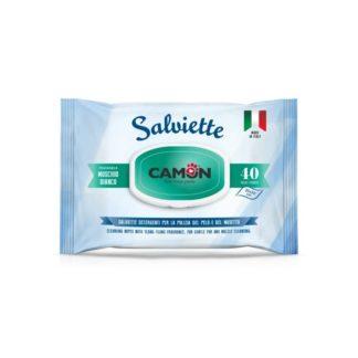 Мокри кърпички Camon Salviette аромат бял мускус, 40 бр.