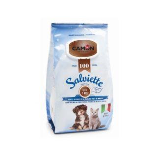 Мокри кърпички Camon Salviette аромат мляко и мед, 100 бр.