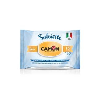 Мокри кърпички Camon Salviette аромат ванилия, 15 бр.