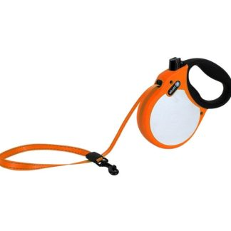 Автоматичен повод ALCOTT NEON M оранжев, лента 5 м - до 30 кг