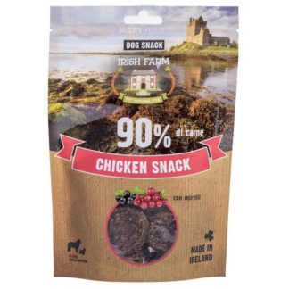 PET VILLAGE IRISH FARM CHIKEN SNACK дискове пиле с боровинка, 80 g