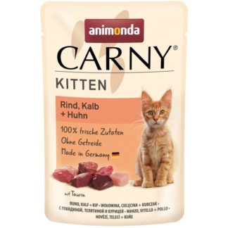 Пауч ANIMONDA CARNY KITTEN BEEF, VEAL AND CHICKEN котки до 12 м, 85 g