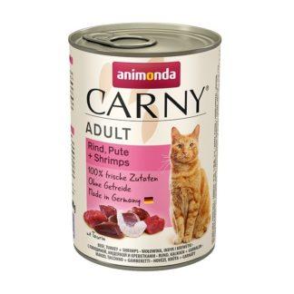 Консерва ANIMONDA CARNY ADULT BEEF, TURKEY AND SHRIMPS котки над 1 год, 400 g