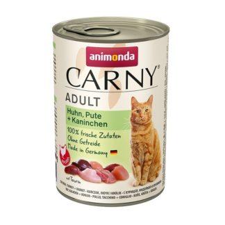 Консерва ANIMONDA CARNY ADULT CHICKEN, TUKEY AND RABBIT котки над 1 год, 400 g