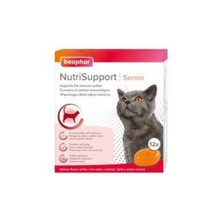 Добавка BEAPHAR NUTRISUPPORT SENIOR CAT за имунна система на възрастни котки, 12 бр.