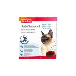 Добавка BEAPHAR NUTRISUPPORT DIGESTION CAT за котки с чувствителен стомах, 12 бр.