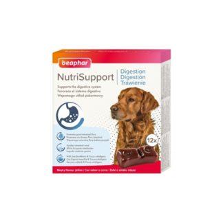 Добавка BEAPHAR NUTRISUPPORT DIGESTION DOG за кучета с чувствителен стомах, 12 бр