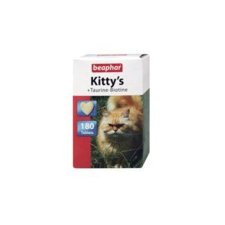 Витамини за котки BEAPHAR KITTY'S TAURINE BIOTINE, 180 бр
