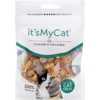 Лакомство за котки ITS MY CAT SUCHI CHICKEN & FISH GRAIN FREE суши пиле и риба, 50 g