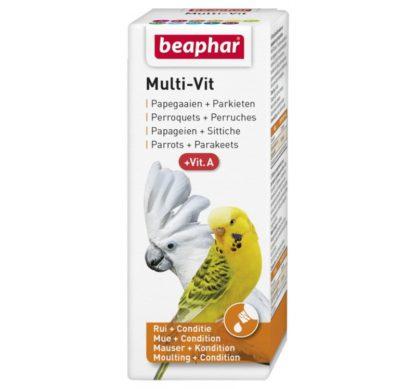 Витамини за папагали BEAPHAR MULTI VIT, 20 ml