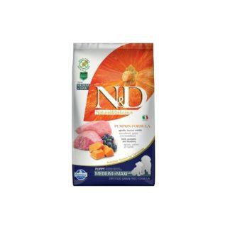 Суха храна N&D PUMPKIN LAMB & BLUEBERRY PUPPY MEDIUM&MAXI средни и едри породи до 12 м, 2.5 kg
