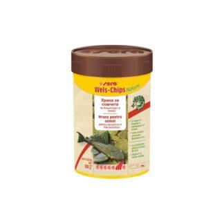 Храна SERA VIPACHIPS SERA WELS-CHIPS NATURE чипс за сомчета, 100 ml