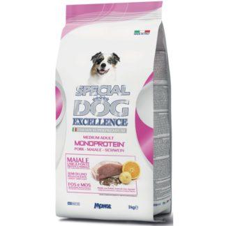 Суха храна SPECIAL DOG EXCELLENCE MEDIUM ADUL MONOPROTEIN PORK за средни породи над 12 м, свинско, 3 kg
