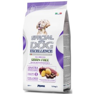 Суха храна SPECIAL DOG EXCELLENCE GRAIN FREE DUCK WITH POTATOES за всички породи над 12 м, патешко, 2.5 kg