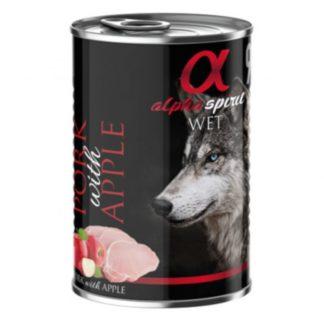 Консерва ALPHA SPIRIT PORK WITH APPLE за кучета над 12 м, свинско и ябълка, 400 g