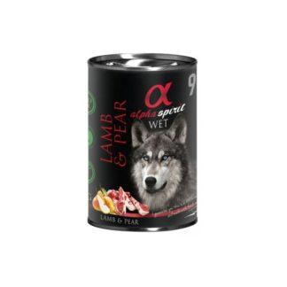 Консерва ALPHA SPIRIT LAMB WITH PEAR за кучета над 12 м, агне и круши, 400 g