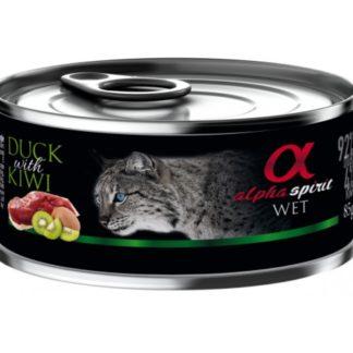 Пастет ALPHA SPIRIT DUCK WITH KIWI за котки над 12 м., патица с киви, 85 g