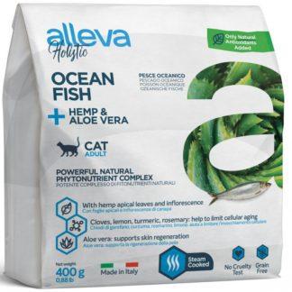 Суха храна ALLEVA HOLISTIC OCEAN FISH + HEMP & ALOE VERA ADULT за котки над 12 м, 400 g