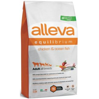 Суха храна ALLEVA EQUILIBRIUM ALL DAY MAINTENANCE CHICKEN &OCEAN FISH ADULT ALL BREED за кучета над 12 м, 2 kg